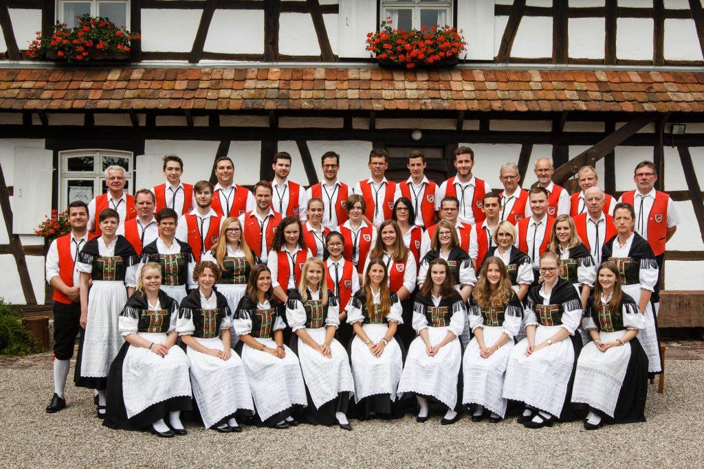 Gruppenfoto der Trachtenkapelle Lichtenau